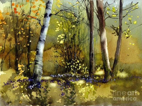 Birches Painting - Paradise Summer by Suzann's Art