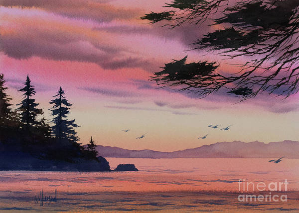 Wall Art - Painting - Paradise Sunset by James Williamson