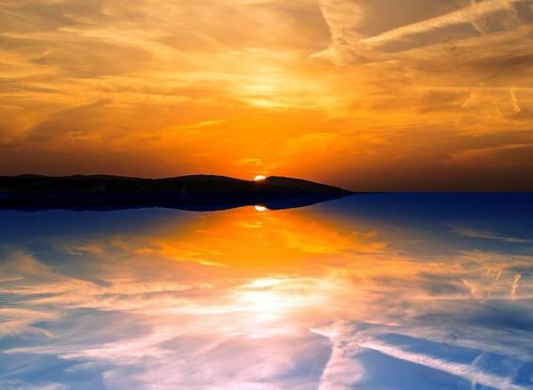 Painting - Paradise Sunset by Joy of Life Art