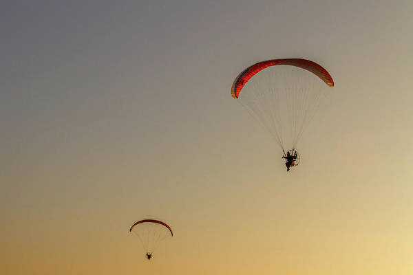 Wall Art - Photograph - Paragliders  by Stelios Kleanthous