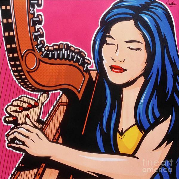 Pop Culture Painting - Paraguayan Harp by James Lee