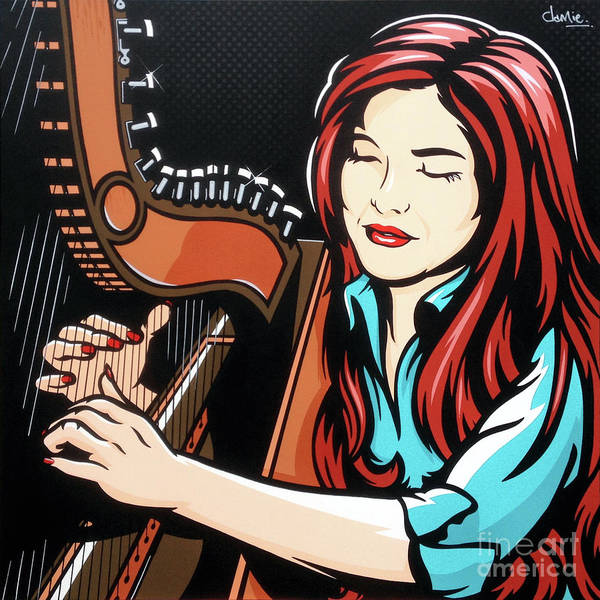 Tradition Painting - Paraguayan Harpist by James Lee
