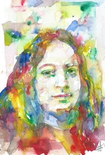 Guru Painting - Paramahansa Yogananda - Watercolor Portrait.5 by Fabrizio Cassetta