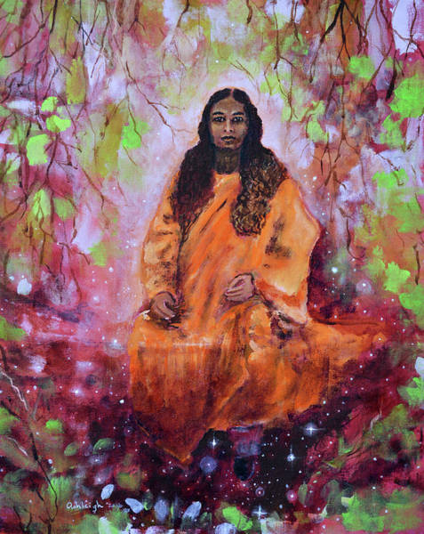 Paramhansa Yogananda Painting - Paramhansa Yogananda  Wishing Tree by Ashleigh Dyan Bayer