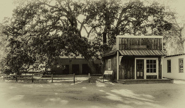 Photograph - Paramount Ranch Barber Shop And Stable - B/w by Gene Parks