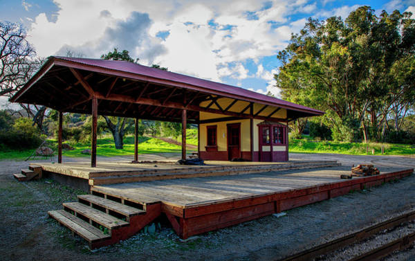 Photograph - Paramount Ranch Train Deport by Gene Parks