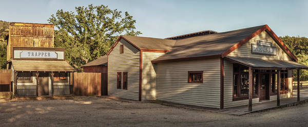 Photograph - Paramount Ranch Trapper And General Store - Panorama by Gene Parks