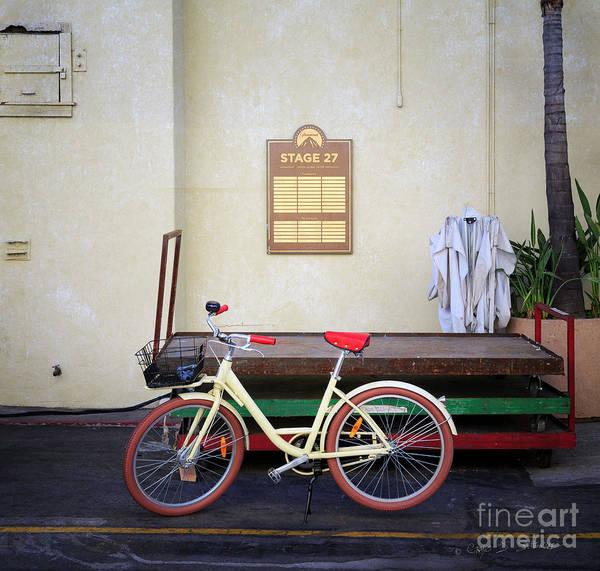 Photograph - Paramount Stage 27 Bicycle by Craig J Satterlee