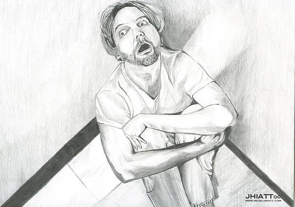 Drawing - Paranoia by Jhiatt
