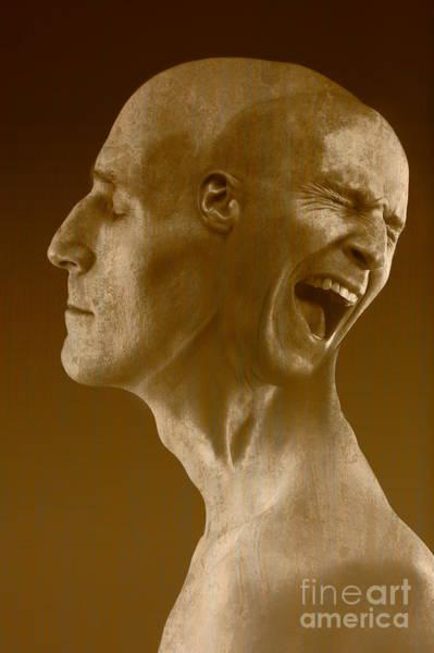 Anguish Photograph - Paranoid Schizophrenia by George Mattei