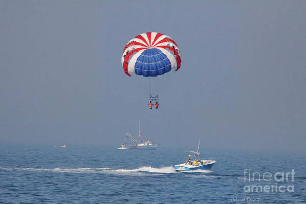 Photograph - Parasailing In Florida by Deborah Benoit