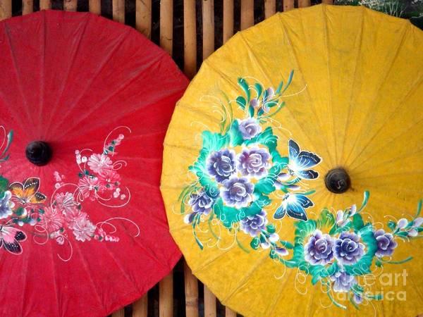 Chang Mai Wall Art - Photograph - Parasol  by Kirsten Hoba