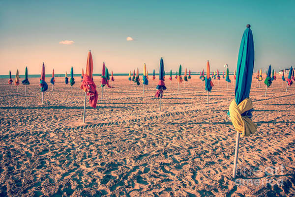 Wall Art - Photograph - Parasols Of Deauville by Delphimages Photo Creations