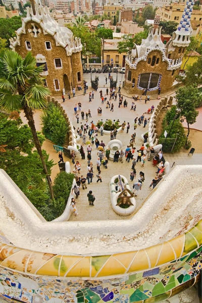 Photograph - Parc Guell In Barcelona by Sven Brogren
