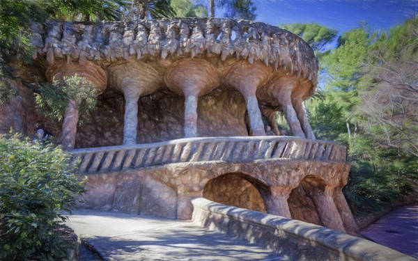 Photograph - Parc Guell Walkway by Joan Carroll