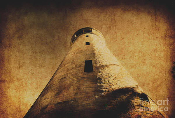 Stained Photograph - Parchment Paper Lighthouse by Jorgo Photography - Wall Art Gallery