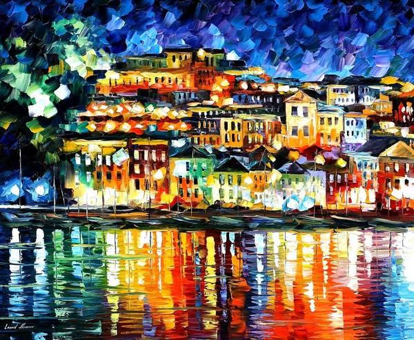 Afremov Painting - Parga Greece by Leonid Afremov