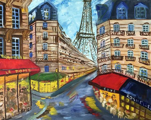 Russian Impressionism Wall Art - Painting - Paris by Alina Morozova