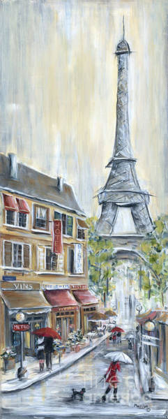 Bistros Painting - Poodle In Paris by Marilyn Dunlap