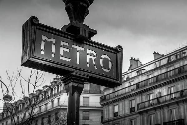 Wall Art - Photograph - Paris And The Metro by Georgia Fowler