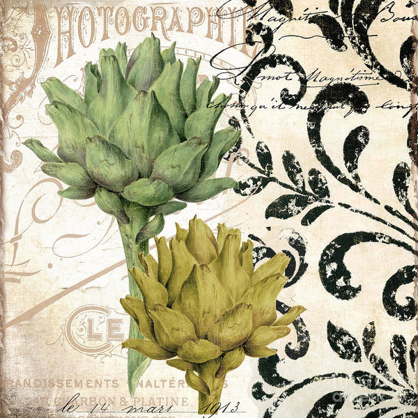 Artichoke Painting - Paris Artichokes by Mindy Sommers