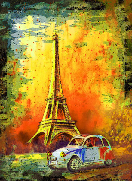 Painting - Paris Authentic Madness by Miki De Goodaboom