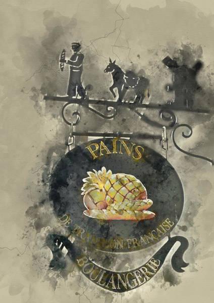 Francaise Painting - Paris Bakery Sign - By Diana Van by Diana Van