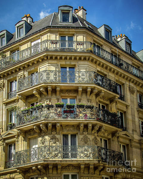 Wall Art - Photograph - Paris Balcony by Perry Webster