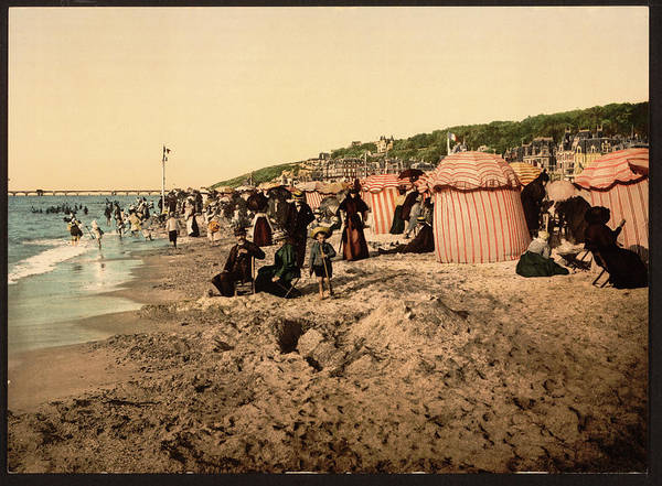 Photograph - Trouville France Beach - The Good Old Days by Peggy Collins
