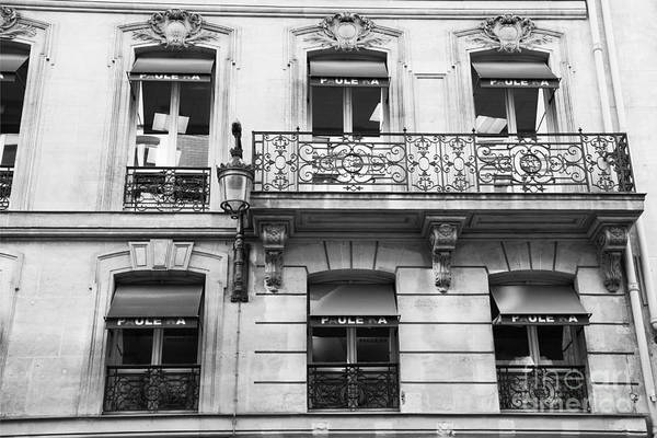 Wall Art - Photograph - Paris Black And White Balconies Window Buildings Architecture Wall Art by Kathy Fornal