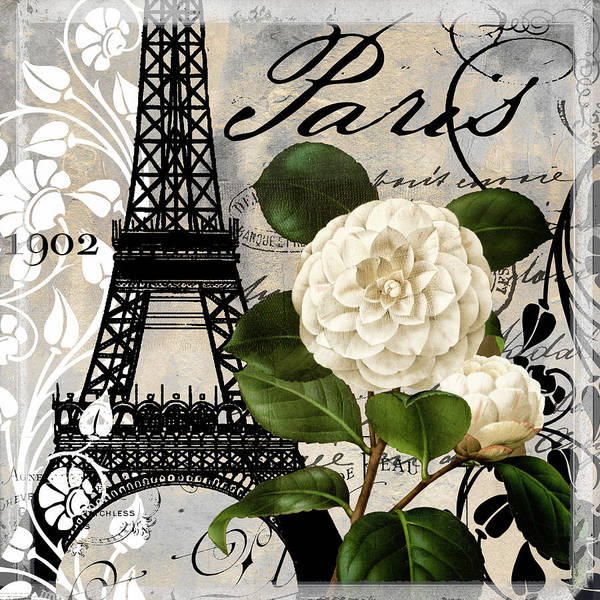 Wall Art - Painting - Paris Blanc I by Mindy Sommers