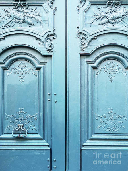 Wall Art - Photograph - Paris Blue Doors - Parisian Door Prints - Paris Dreamy Blue Door Wall Art - Parisian French Doors  by Kathy Fornal