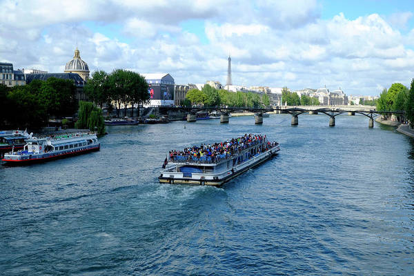 Photograph - Paris Boat On The Seine by August Timmermans