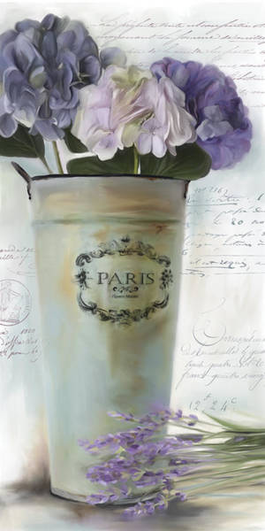 Wall Art - Painting - Paris Bouquet 1 by Carol Robinson
