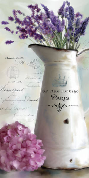 Wall Art - Painting - Paris Bouquet 2 by Carol Robinson