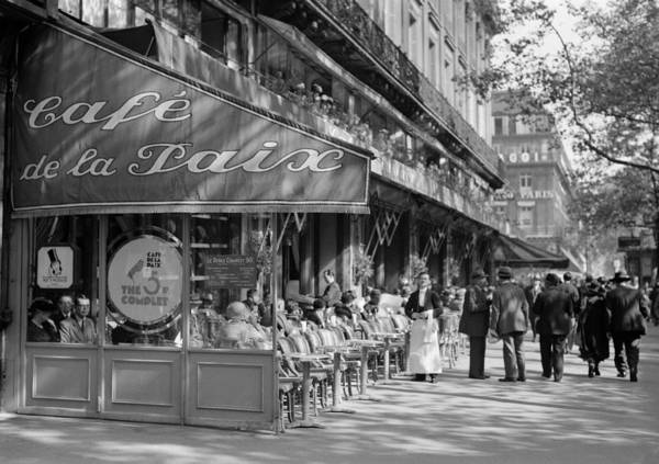 Photograph - Paris Cafe 1935 by Andrew Fare