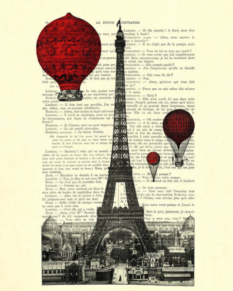 Wall Art - Digital Art - Paris, City Of Love by Madame Memento