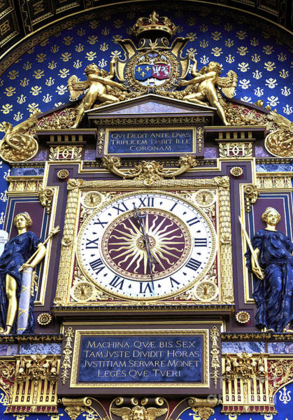 Wall Art - Photograph - Paris Conciergerie Clock by John Rizzuto