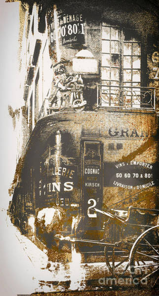 Wall Art - Painting - Paris Corner by Mindy Sommers