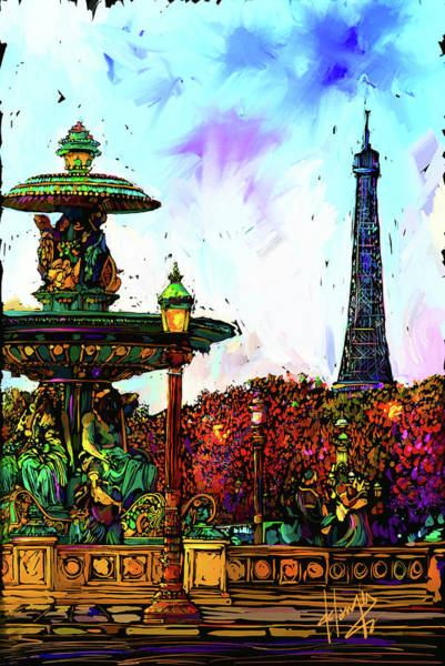 Painting - Paris by DC Langer