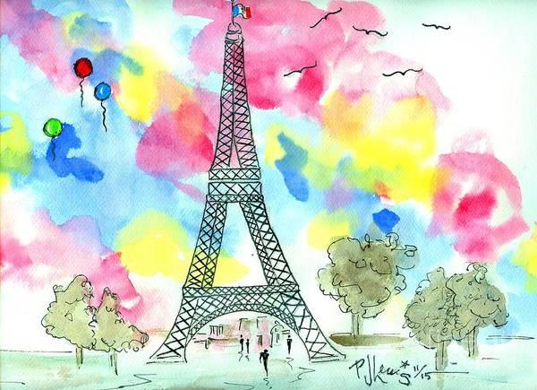 Wall Art - Painting - Paris Dreaming by PJ Lewis
