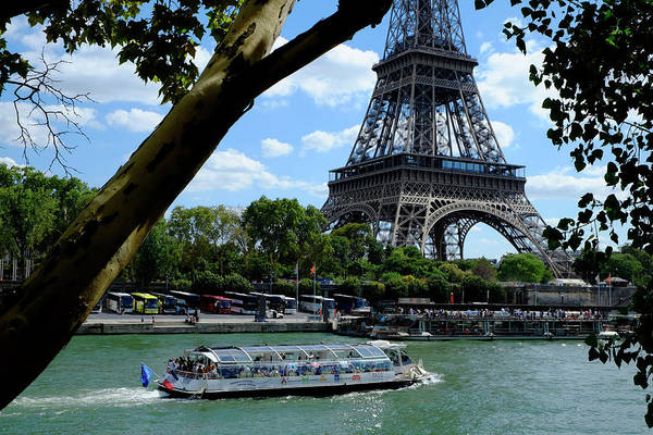 Photograph - Paris Eiffel Boat by August Timmermans