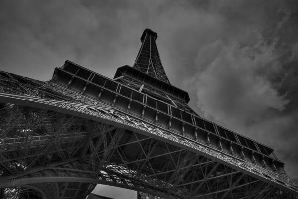Photograph - Paris - Eiffel Tower 001 Bw by Lance Vaughn
