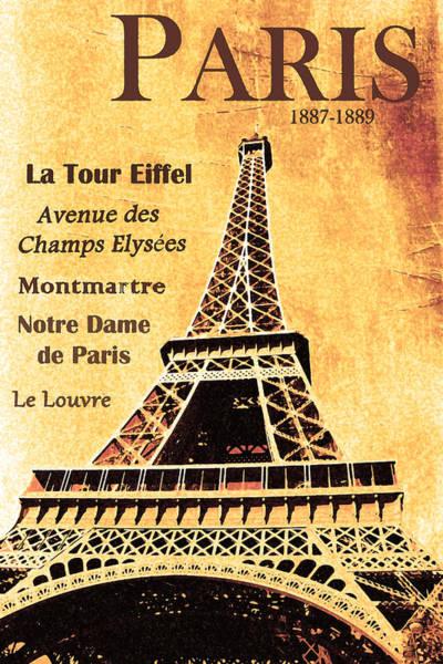 Le Tour De France Wall Art - Photograph - Paris Eiffel Tower by Alex Antoine