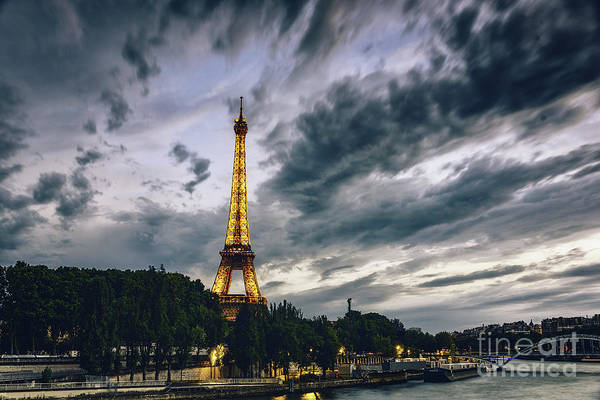 Photograph - Paris Eiffel Tower At Dusk by Alissa Beth Photography
