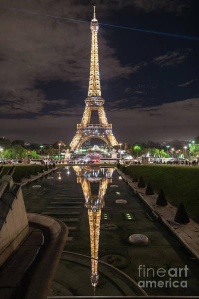 Palais Photograph - Paris Eiffel Tower Dazzling At Night by Mike Reid