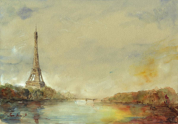 Eiffel Tower Wall Art - Painting - Paris Eiffel Tower Painting by Juan  Bosco