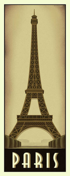 Wall Art - Digital Art - Paris Eiffel Tower by Steve Forney