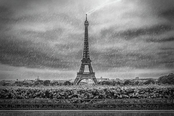 La Tour Eiffel Photograph - Paris Eiffel Tower Thunderstorm by Melanie Viola