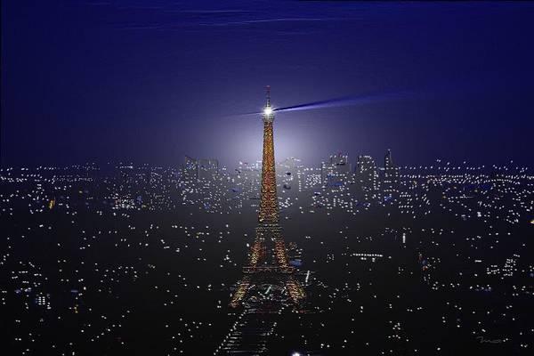 Digital Art - Paris Etched by Mark Taylor